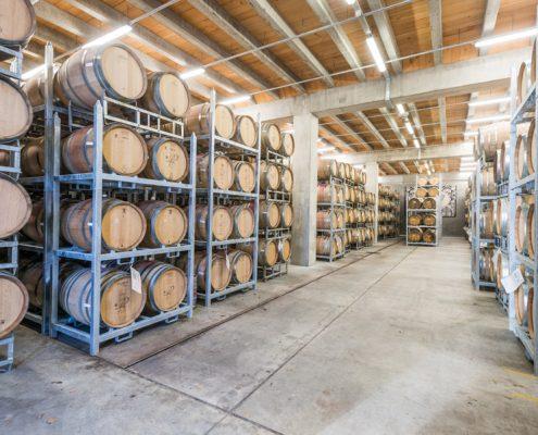 Mt Difficulty barrel racks