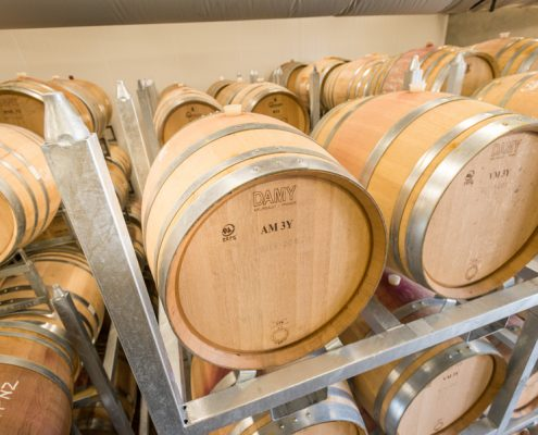 PS1 Barrel Rack at Mt Difficulty Winery
